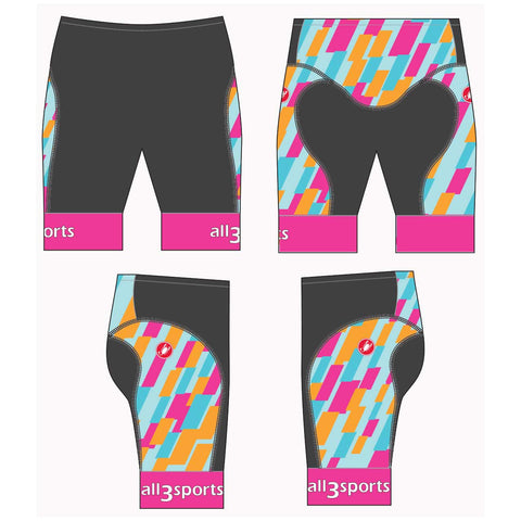2019 all3sports.com Women's Team Free Tri Short
