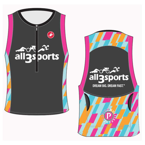 2019 all3sports.com Women's Team Free Tri Top