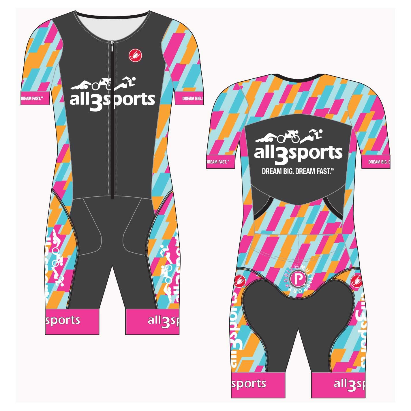 2019 all3sports Women's Team San Remo Tri Suit