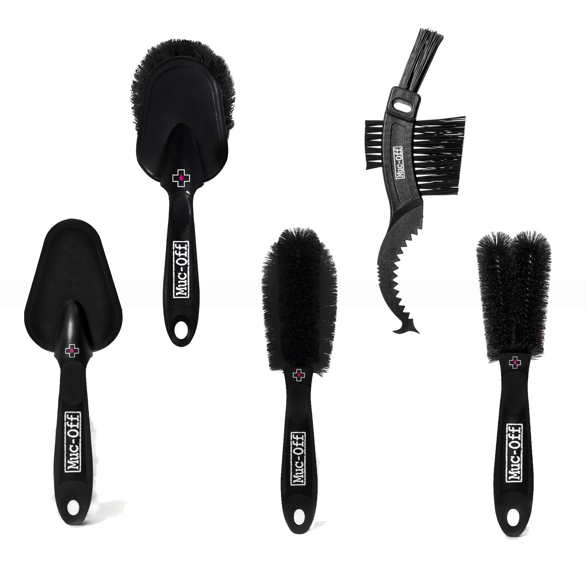 Muc-Off 5-Piece Cleaning Brush Set w/ Storage Bag