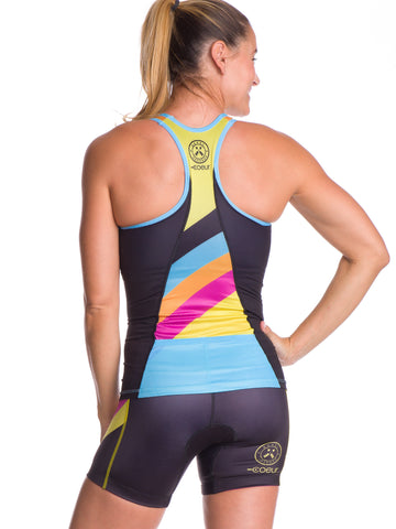 Super Comfy with Soft Chamois FX Print Designed by Athletes Triathlon Shorts in Womens Womens Tri Short Slim Athletic Fit SLS3 Tri Shorts for Women