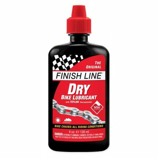 Finish Line Dry Chain Lube 4oz Squeeze Bottle
