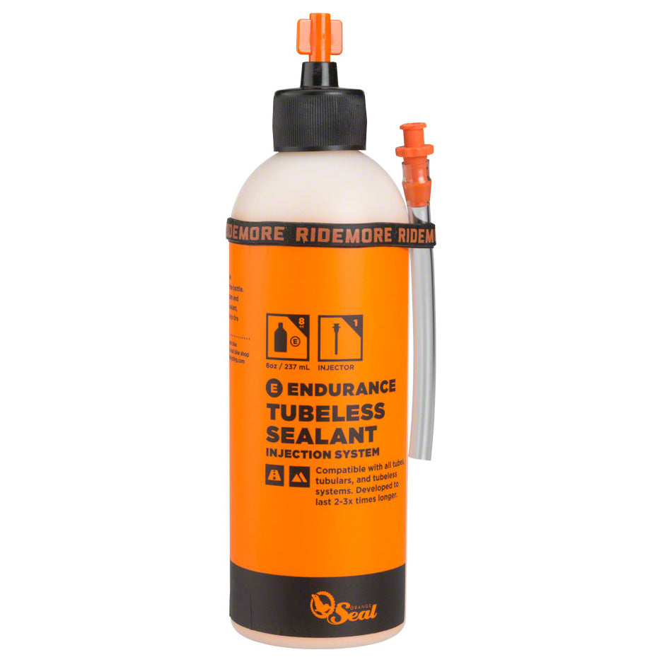 Orange Seal Endurance Tubeless Tire Sealant with Twist Lock Applicator - 8oz