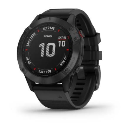 Garmin fenix 6 47mm Black, Wristband: Black - Silicone