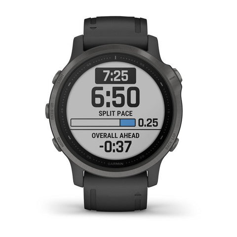 Garmin fenix 6S 42mm Sapphire Carbon Grey, Wristband: Black