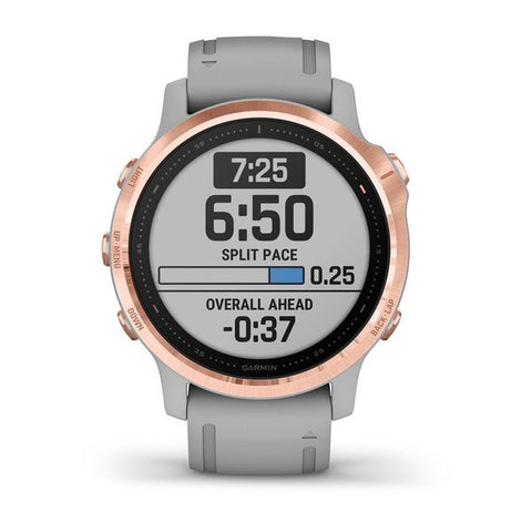 Garmin fenix 6S 42mm Sapphire Rose Gold, Wristband: Powder Gray