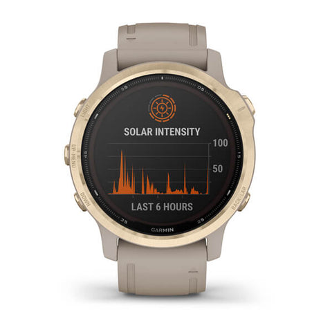Garmin fenix 6S Solar 42mm Light Gold, Wristband: Sand