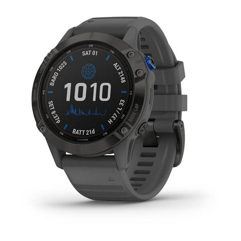 Garmin fenix 6 Solar 47mm Black, Wristband: Slate Grey