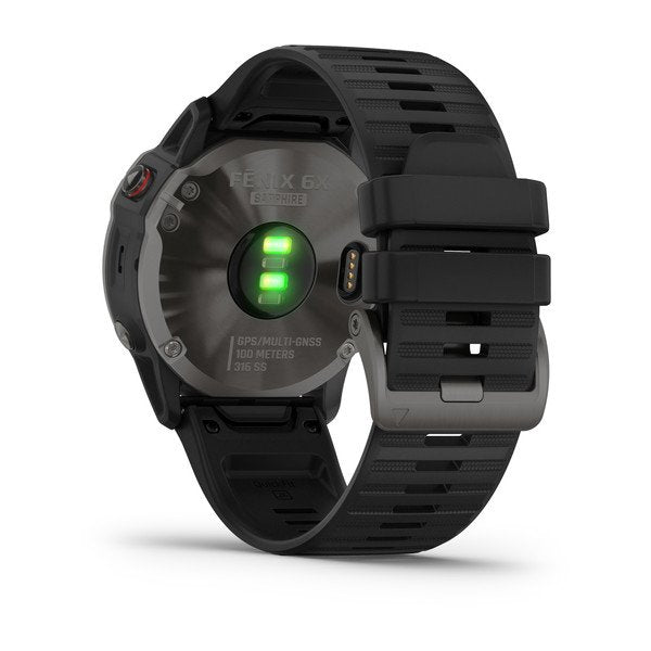 Garmin fenix 6X Sapphire 51mm Carbon Grey, Wristband: Black