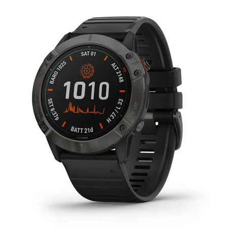 Garmin fenix 6X Solar 51mm Ti Grey, Wristband: Black