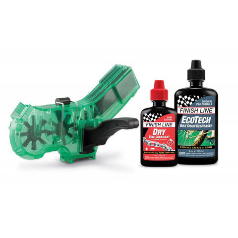 Finish Line Pro Chain Cleaner with 2oz DRY Lube and 4oz Multi Bike Degreaser
