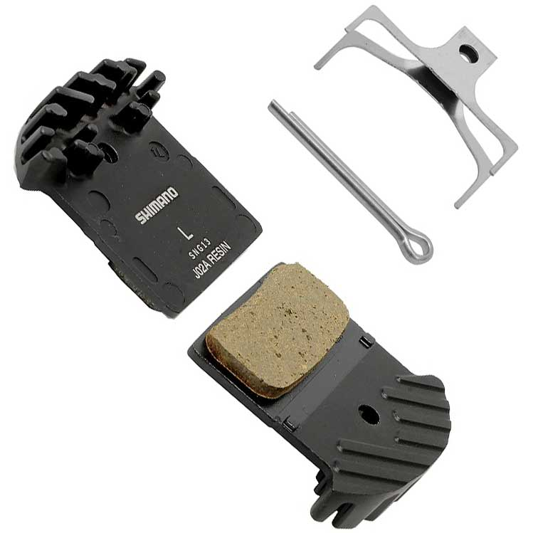 Shimano J02A Resin Disc Brake Pad and Spring with Fin for XTR M9020 M985, XT M8000 M785, SLX M675 Disc Calipers