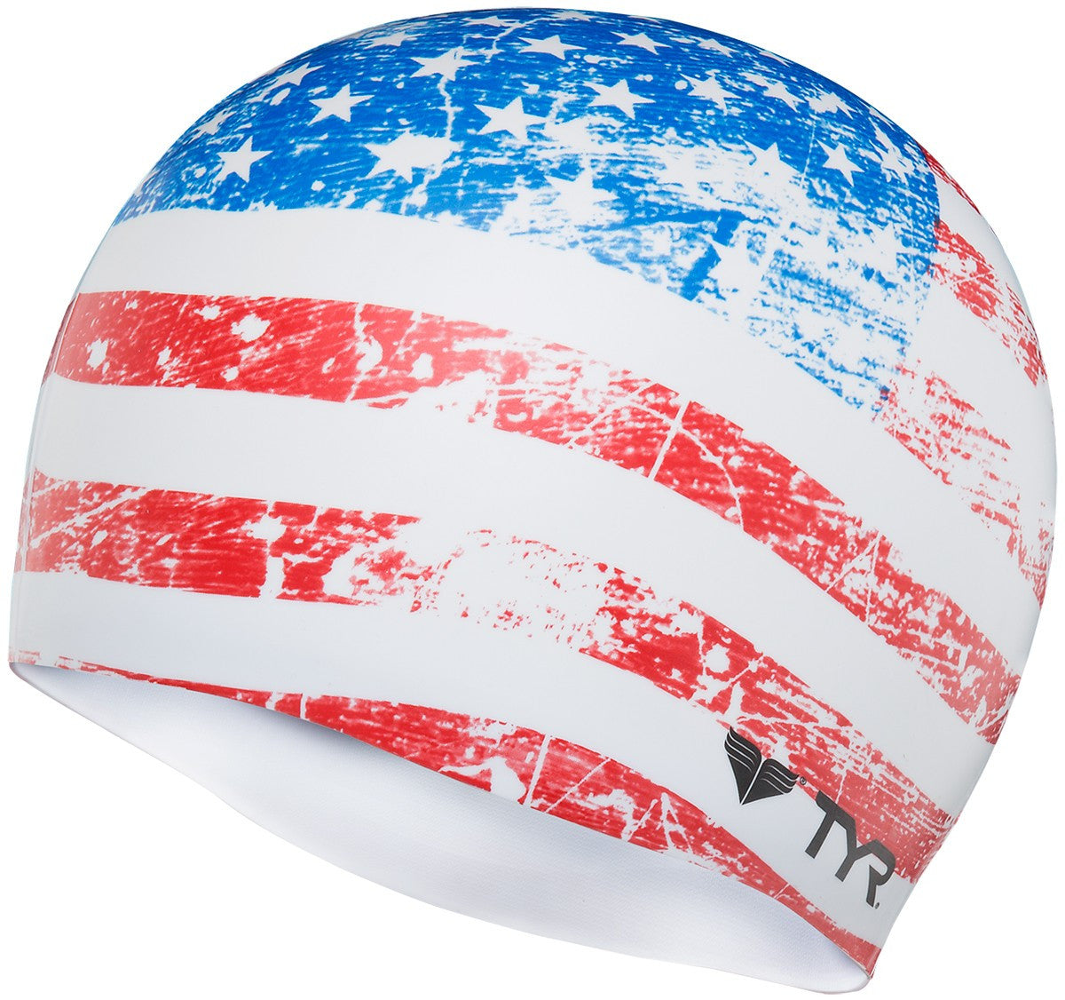 TYR Silicone Swim Cap - Old Glory Flag