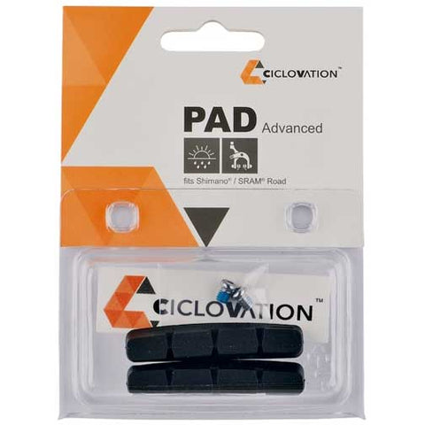 Ciclovation Advanced Road Brake pad insert Black