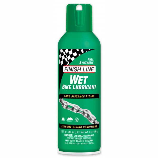 Finish Line Wet Chain Lube 8oz Aerosol