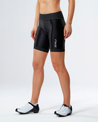 Women's Mid-Rise Compression Short Black/Dotted Black Logo S