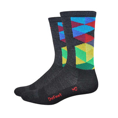 "DeFeet Aireator 6"" Socks Pink/Blue/Purple"