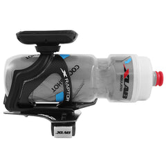 XLAB Aero TT Water Bottle and Cage System: Stealth Black Cage and Bottle