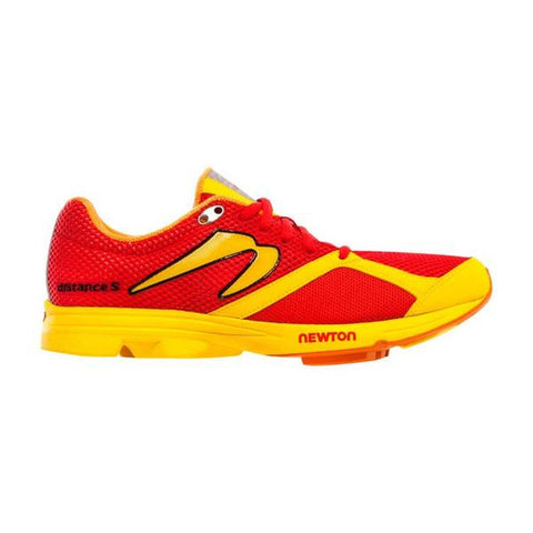 Newton Distance S - Men's Red/Yellow 8
