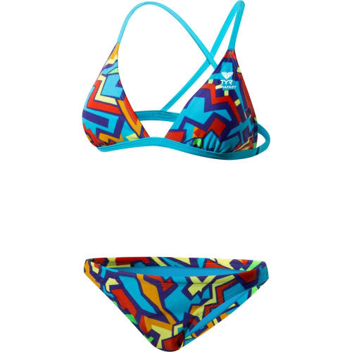 "TYR Jazzy Fresh Triangle Bra With 1"" Bottom Swimsuit"