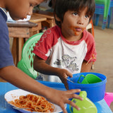 Student at Education Plus Nicaragua Eating
