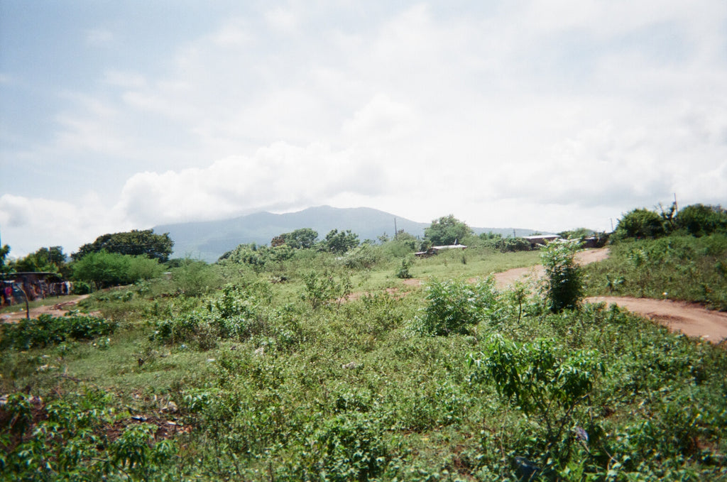 country side of Nicaragua with volcano in background