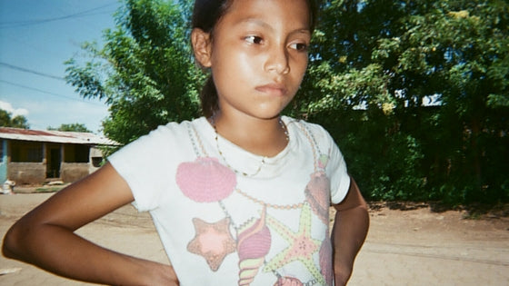 little girl in streets of Nicaragua