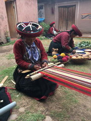 traditional women in Andean Village