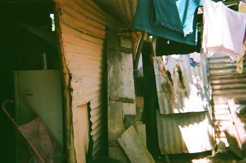 shacks in poor neighborhood in Nicaragua