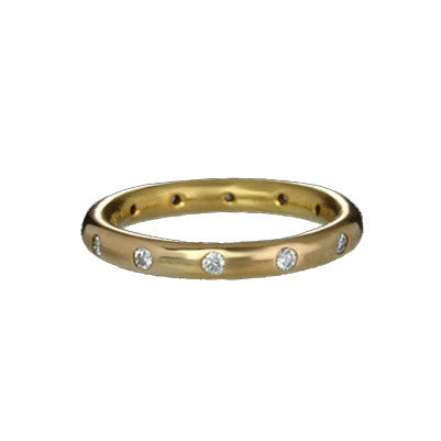 22k Stacking Band (Wedding Band) with 12 Diamonds