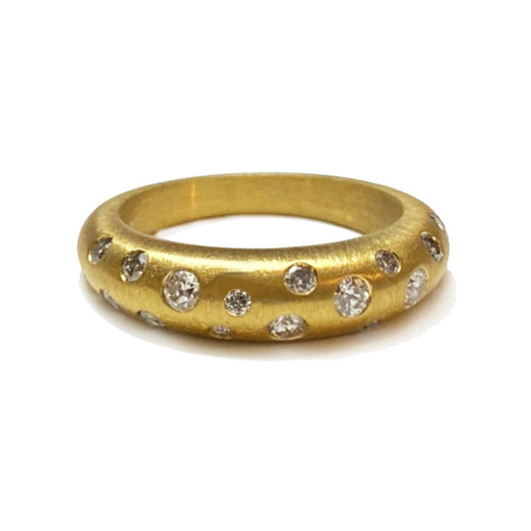 Renee Wide Tapered Band 22k or 18k