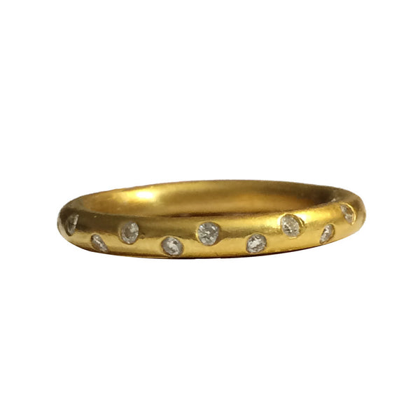 22k Handcrafted Full Round Diamond Etoile Band (3mm)