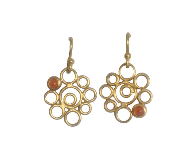 Tiny Bubbles - 22k with Carnelian