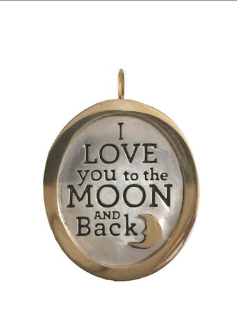 Love You to the Moon and Back Charm (14k & sterling)