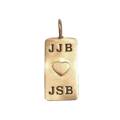 14kt Medium Rimless Dog Tag