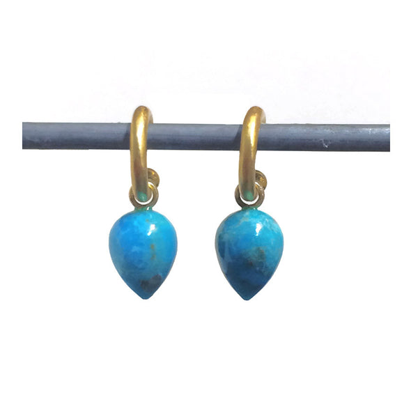 Turquoise Acorn Drops for Hoops