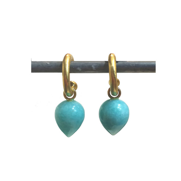 Amazonite Acorn Drops for Hoops