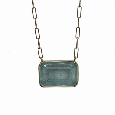 18k - Aquamarine Elyse Necklace