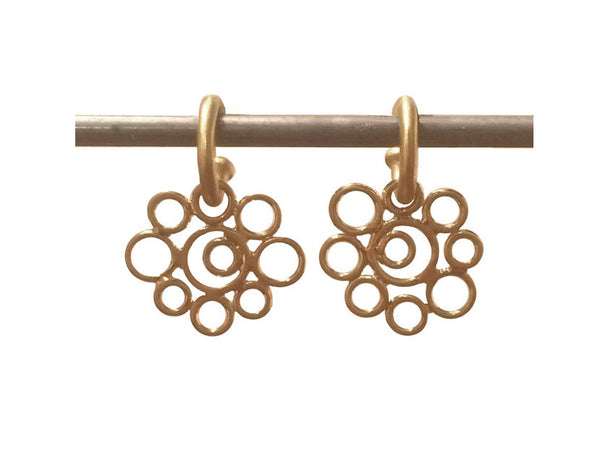 Bubble Dangle for Hoops - 22k
