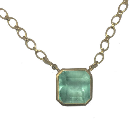 Emerald Theresa Necklace - 22k Chain