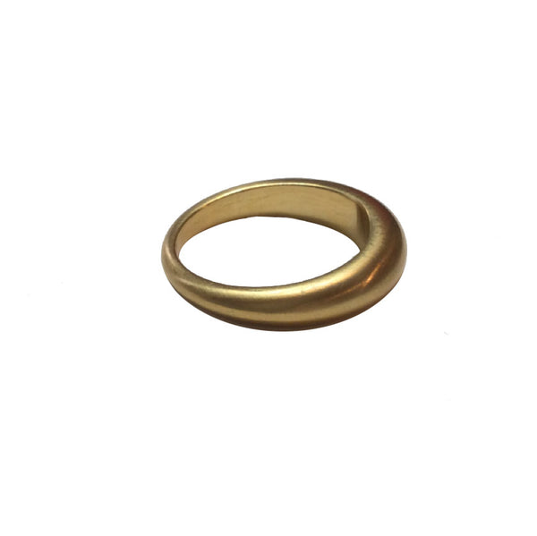 Tapered 22k Gold Band (Wedding Band or Stack Ring)