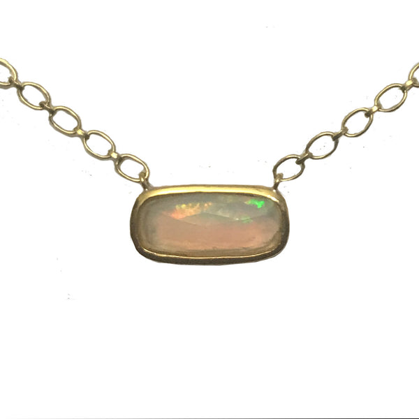 Faceted Opal Theresa Necklace - 22k