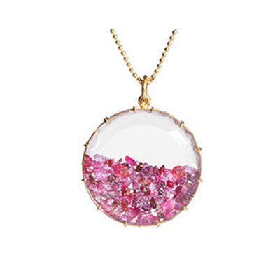 Pink Sapphire Shaker Necklace