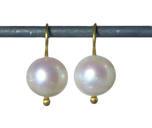 White South Sea Pearls with Lovely Luster - 18k