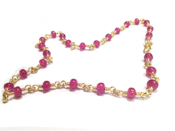 22k Ruby Rachel Necklace
