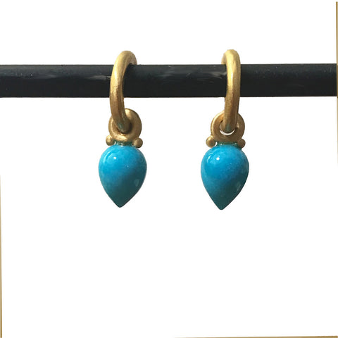 Turquoise Acorn with 22k Granulation