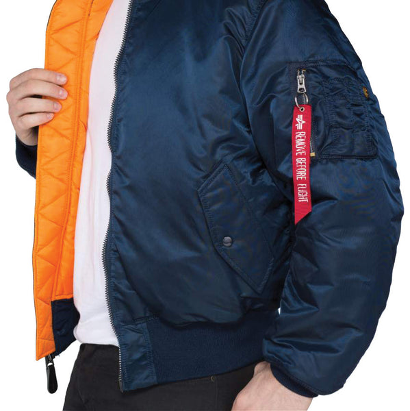 ALPHA MA1 FLYING JACKET - BLUE - INSIDE