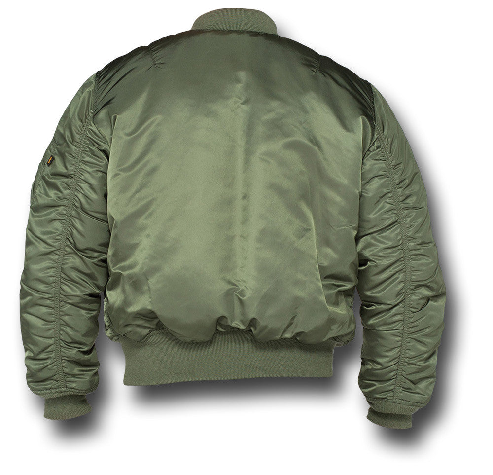 ... ALPHA MA1 FLYING JACKET - GREEN - BACK ... 4cd0a527043
