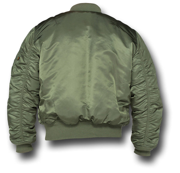 ALPHA MA1 FLYING JACKET - GREEN - BACK