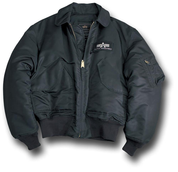 ALPHA CWU NYLON FLYING JACKET - BLACK